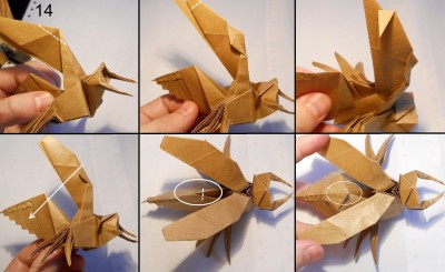 Муха оригами схема 14