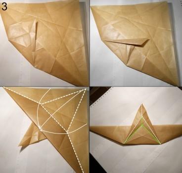 Муха оригами схема 3