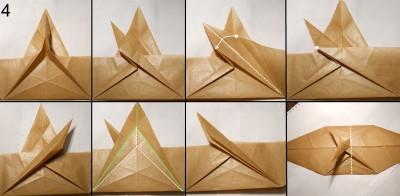 Муха оригами схема 4