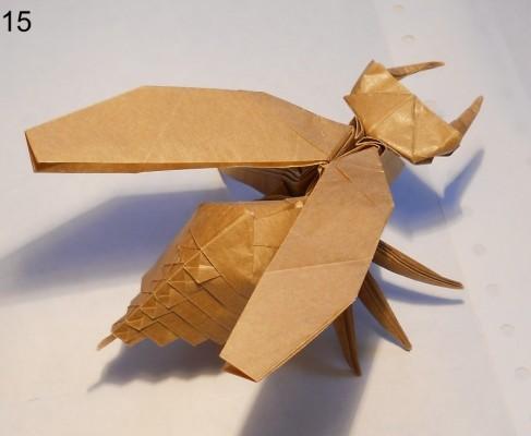 Муха оригами