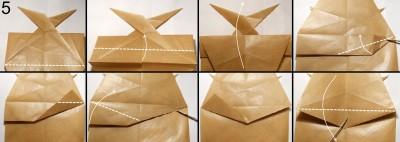 Муха оригами схема 5
