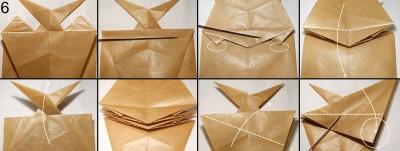 Муха оригами схема 6