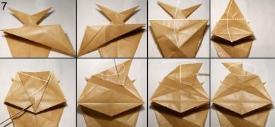 Муха оригами схема 7