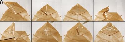 Муха оригами схема 8
