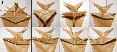 Муха оригами схема 9