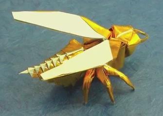 Муха оригами схема 15