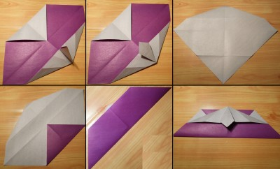 Сердце оригами с галстуком схема 2