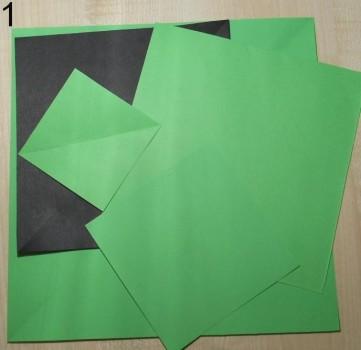 оригами елочка схема 1
