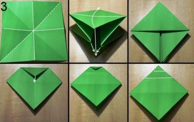 оригами елочка схема 3