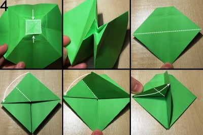 оригами елочка схема 4