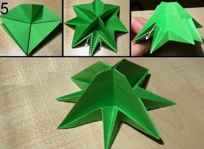 оригами елочка схема 5