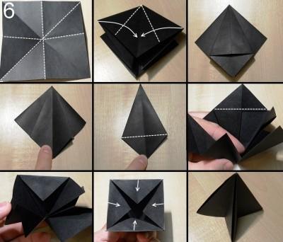 оригами елочка схема 6
