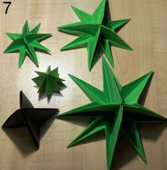 оригами елочка схема 7