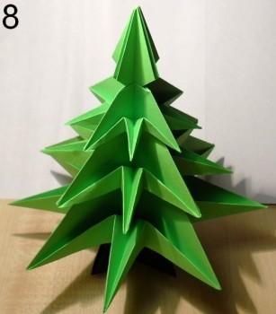 оригами елочка схема 8