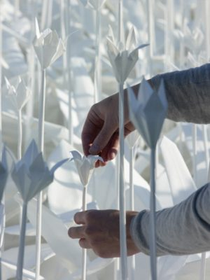 Сад цветов оригами