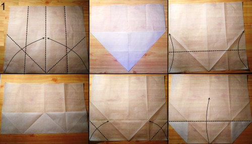 оригами кошелек схема 1