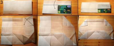 оригами кошелек схема 3