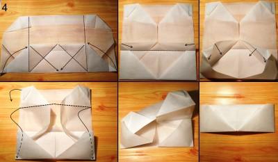 оригами кошелек схема 4