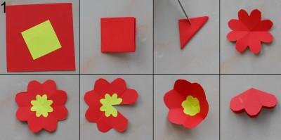 оригами открытка схема 1