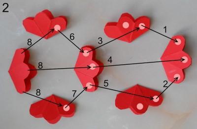 оригами открытка схема 2