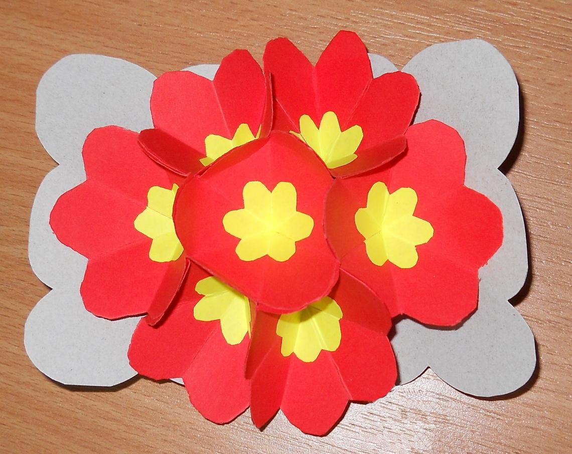 Цветок оригами на открытку, спасибо приятный вечер