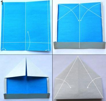 Оригами снегурочка схема 1