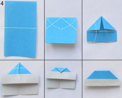 Оригами снегурочка схема 4