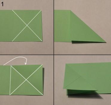 Схема змеи оригами 1