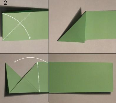 Схема змеи оригами 2