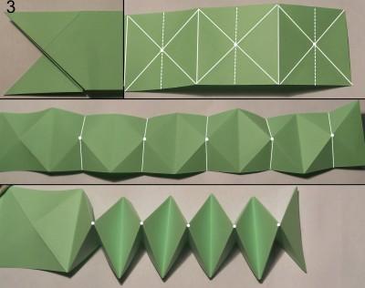 Схема змеи оригами 3