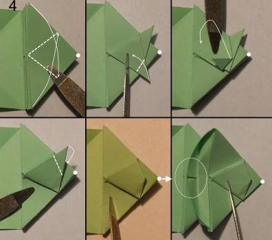 Схема змеи оригами 4