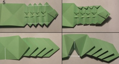 Схема змеи оригами 5