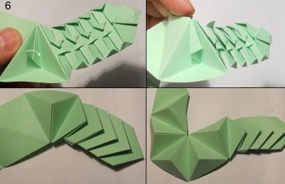Схема змеи оригами 6