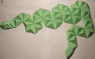 Схема змеи оригами 7