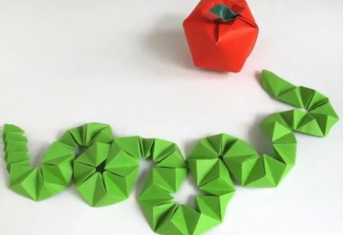 Змея Оригами