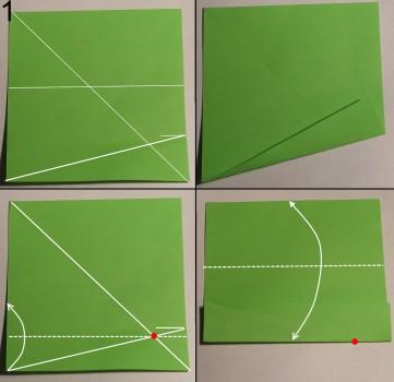 Змейка оригами схема 1