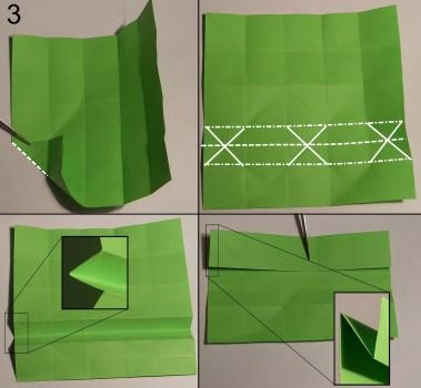 Змейка оригами схема 3