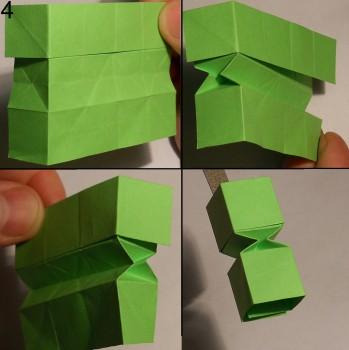 Змейка оригами схема 4