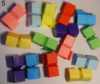 Змейка оригами схема 5