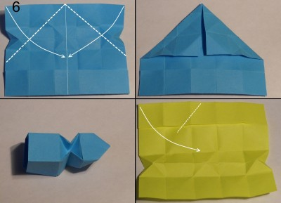 Змейка оригами схема 6