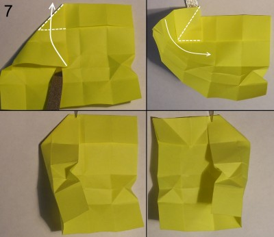 Змейка оригами схема 7