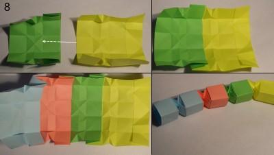 Змейка оригами схема 8