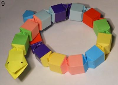 Змейка оригами схема 9