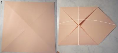 Свеча оригами схема 1
