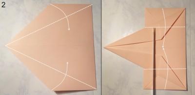 Свеча оригами схема 2