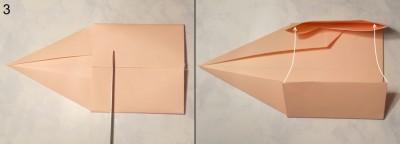 Свеча оригами схема 3