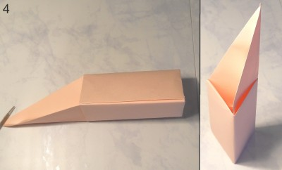 Свеча оригами схема 4