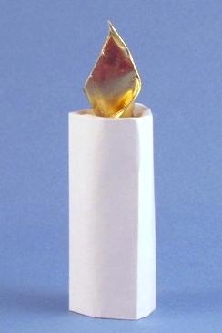 Свеча оригами