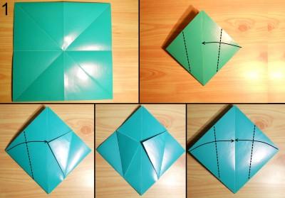 оригами ваза для цветов схема 1