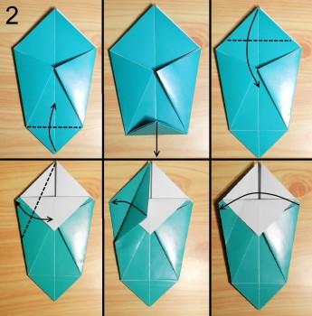 оригами ваза для цветов схема 2